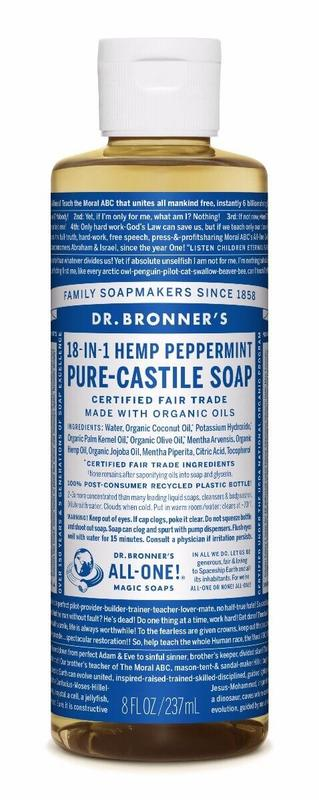 Dr. Bronner's Pure Castile Liquid Soap - Peppermint (236ml)