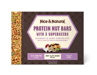 Nice & Natural: Protein Nut Bars - Coconut/Choc/Raspberries (165g)