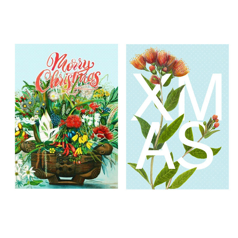 Pure NZ Christmas Cards - Flowers Xmas (Pack of 10) image