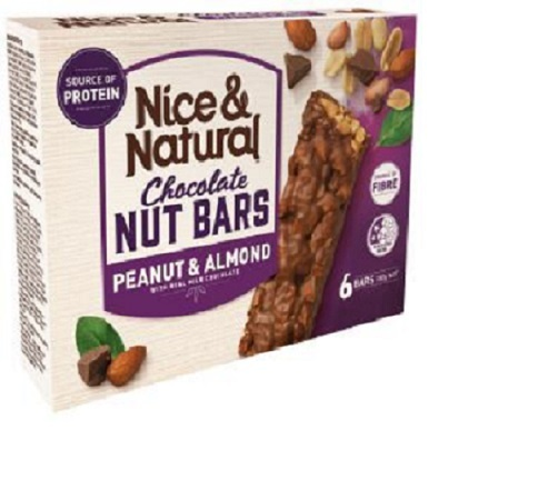 Nice & Natural Choc Nut Bar - Peanut & Almond (180g)