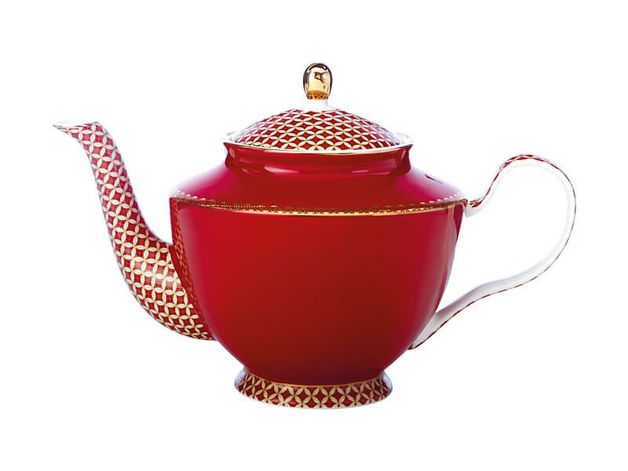 Maxwell & Williams Teas & C's: Classic Teapot with Infuser - Cherry Red