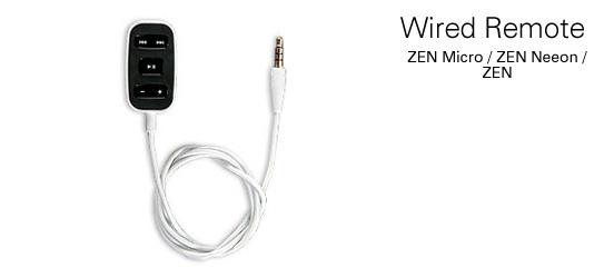 Creative Zen Micro/Neeon/Vision Wired Remote (Black) image