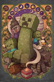 Minecraft:Creeper Nouveau - Maxi Poster (665)