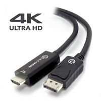 Alogic Elements Active 2m Displayport To Hdmi Cable With 4k@60hz Support Male To Male