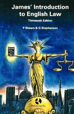 James' Introduction to English Law by Peter Shears