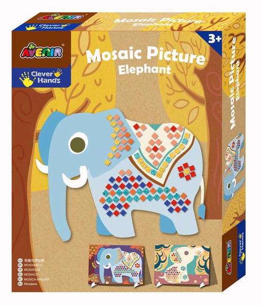 Avenir: Mosaic Picture Kit - Elephants