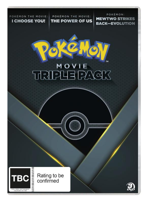 Pokémon Movie Triple Pack on DVD