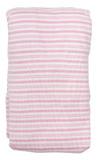 Babu Bassinet Sheet Bottom Pink Stripe