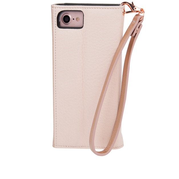 best service ad8e8 98302 CASEMATE iPhone 7 Leather Wristlet Folio Case - Rose Gold   at ...