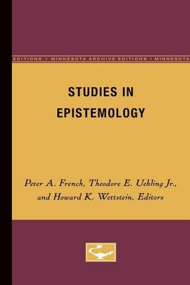 Studies in Epistemology by French image