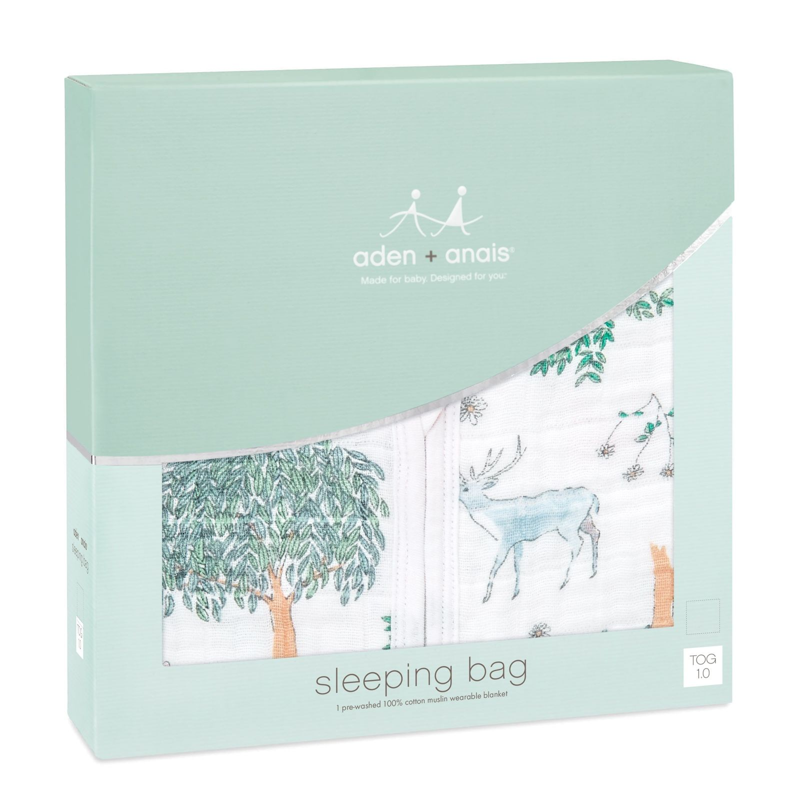 Aden + Anais: Classic Muslin Sleeping Bag - Forest Fantasy - Deer (Medium) image