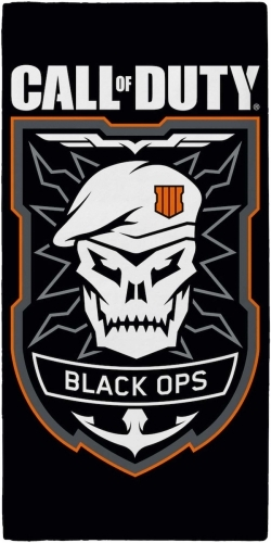 Call of Duty Black Ops: 100% Cotton Beach Towel - Emblem