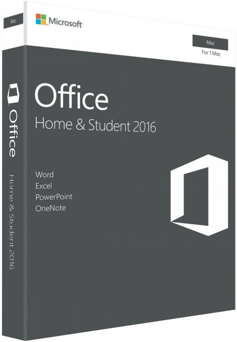 Microsoft Office Home & Student 2016 for Mac (Retail Pack - No Media)