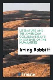 Literature and the American College by Irving Babbitt image