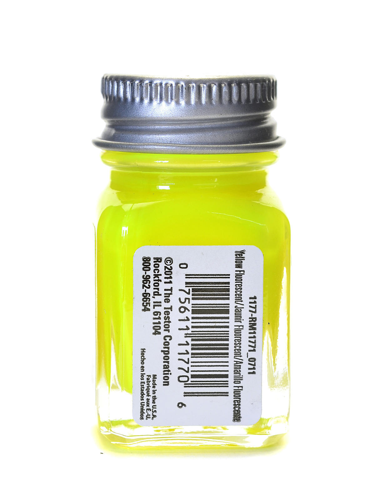 Testors: Fluorescent Enamel Paint - Yellow image