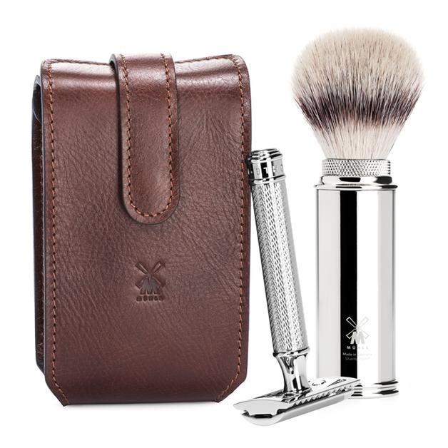 Muhle: Safety Razor Travel Shaving Set - Brown (RT2)