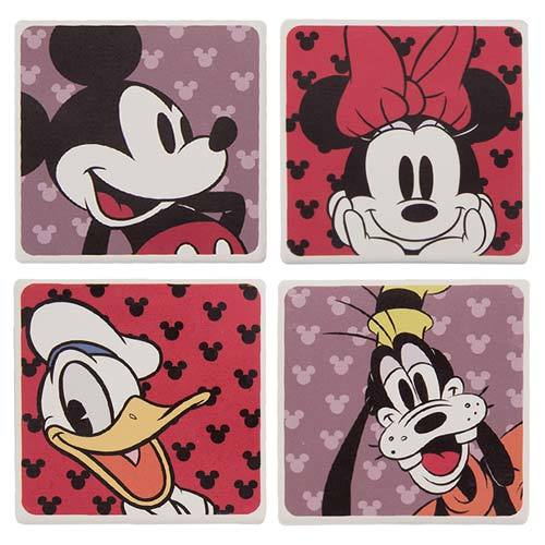 Mickey Mouse & Friends Ceramic Coaster Set
