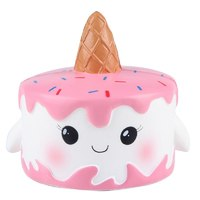 I Love Squishy: Pink Narwhale Squishie Toy (10cm) image