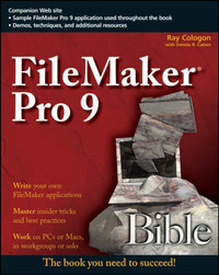 FileMaker Pro 9 Bible by Dennis R Cohen image