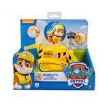 Paw Patrol Basic Vehicle & Pup - Rubble's Diggin' Bulldozer