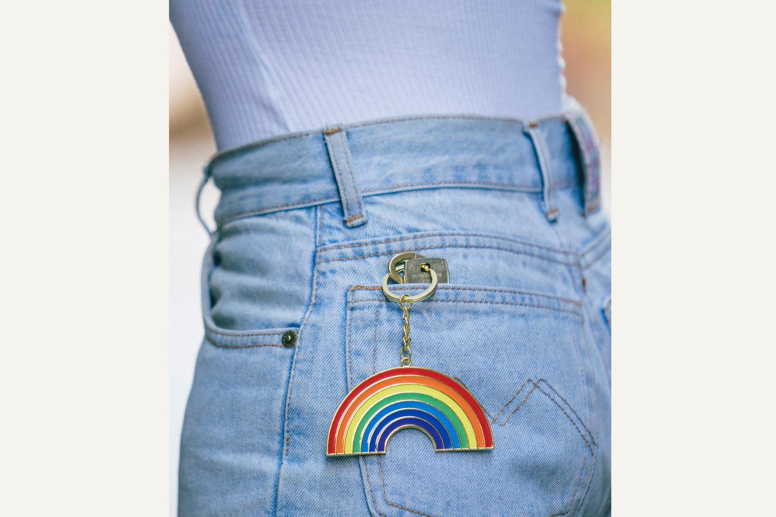 Doiy: Oversized Keyring - Rainbow image