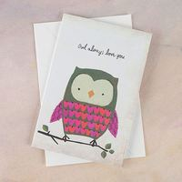 Natural Life: Greeting Card - Owl