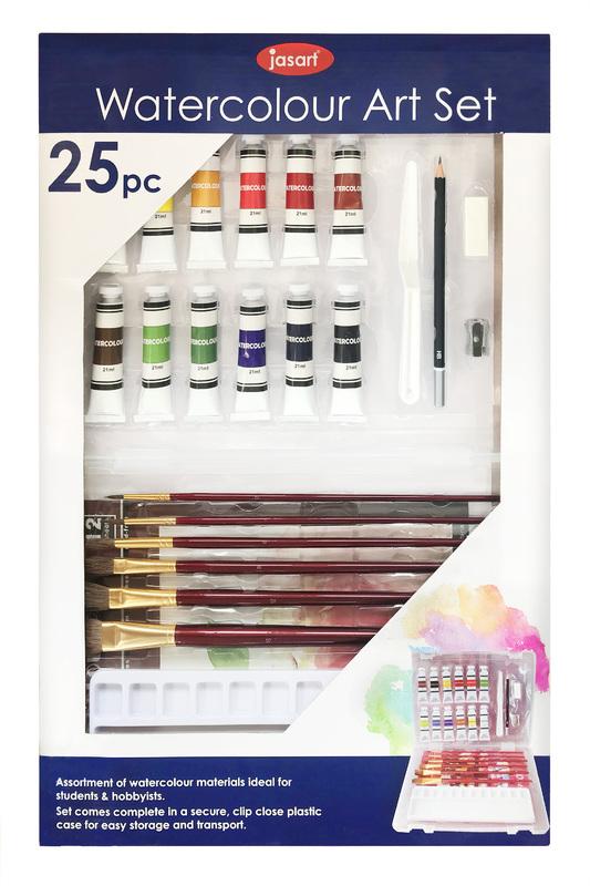 Jasart: Watercolour Art Set (25pc)