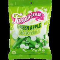 RJs Fabulicious Green Apple Sherbert Fizz 200g (12 Pack)
