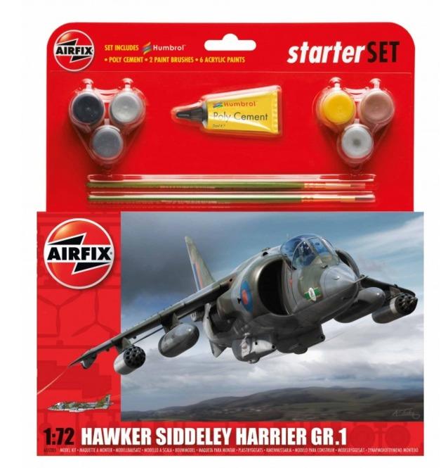 Airfix Hawker Harrier GR1 Starter Set