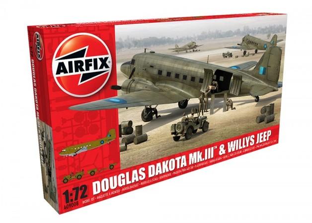 Airfix 1:72 Douglas Dakota MkIII with Willys Jeep Model Kit