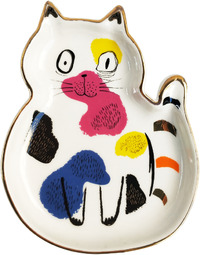 Abstract Cat Trinket Dish Sitting (12cm)