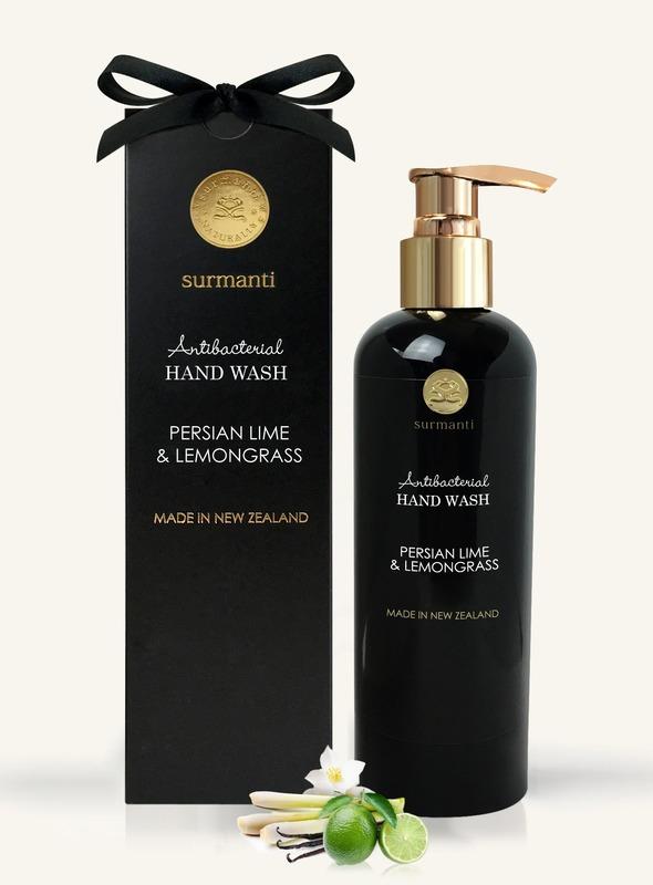 Surmanti Hand Wash Antibacterial Cleanser - Persian Lime & Lemongrass (300ml)