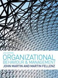 Organizational Behaviour and Management by John Martin image