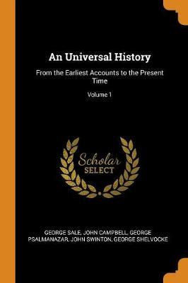 An Universal History by George Sale image