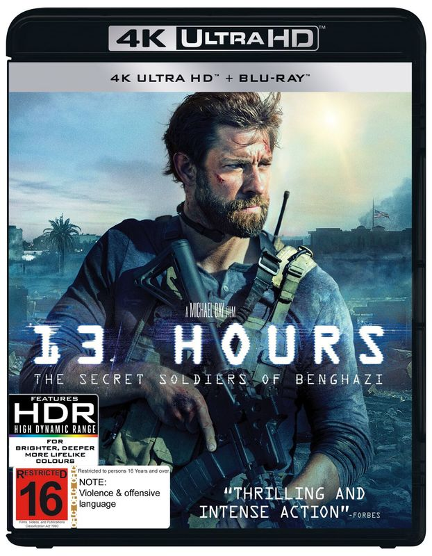 13 Hours: The Secret Soldiers of Benghazi (4K UHD + Blu-ray) on Blu-ray, UHD Blu-ray