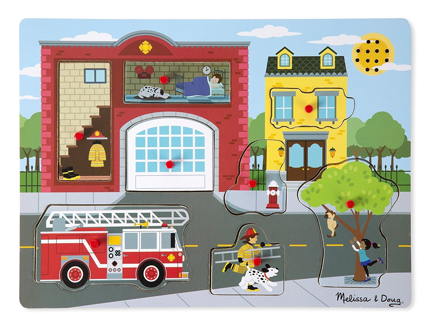 Melissa & Doug: Around the Fire Station - Sound Puzzle image