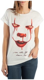 IT: We All Float Down Here - Rolled Sleeve T-Shirt (XS)