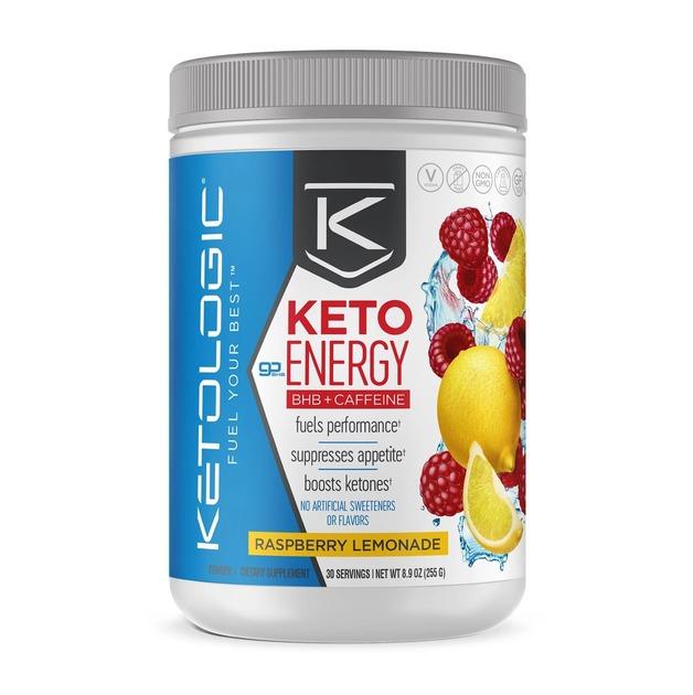 Ketologic: Keto Energy BHB + Caffeine - Raspberry Lemonade (30 Serves)