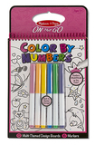 Colour by Numbers Pink On the Go Travel Activity - Melissa & Doug