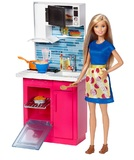 Barbie: Doll and Furniture Kitchen Playset