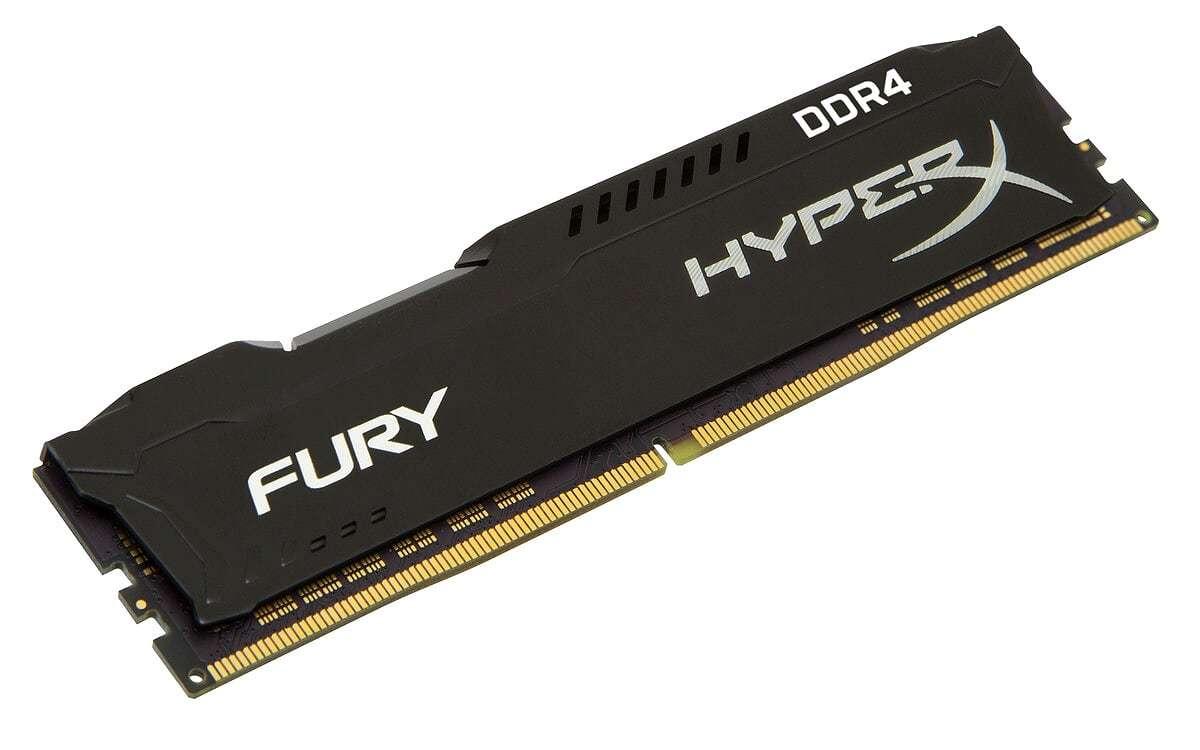 16GB Kingston Hyperx Fury 2400Mhz DDR4 CL15 Dimm Single - Black image