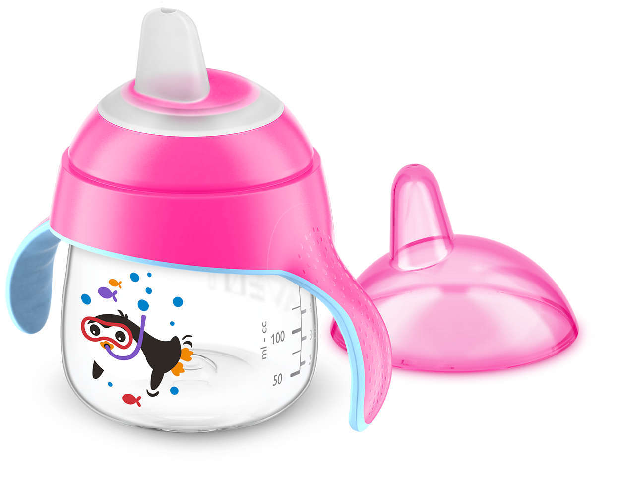Philips Avent Sip, No Drip Cup - 200ml 6m+ (Pink) image