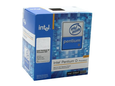 Intel Pentium D #820 2.8GHz 2X1MB 800MHz FSB LGA775  2x1Mb L2 Cache