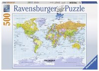 Ravensburger: Political World Map - 500pc Puzzle