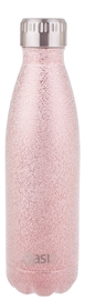 Oasis Insulated Stainless Steel Shimmer Water Bottle - Blush (500ml) image
