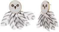 Harry Potter: Feathered Hedwig - Earring Set
