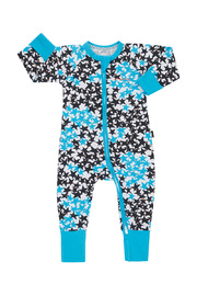 Bonds Zip Wondersuit Long Sleeve - Super Star Blue (12-18 Months)