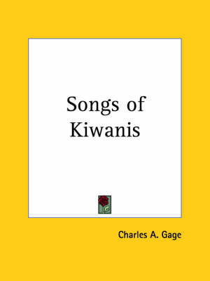 Songs of Kiwanis (1924)