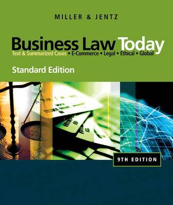 Business Law Today by Roger LeRoy Miller image