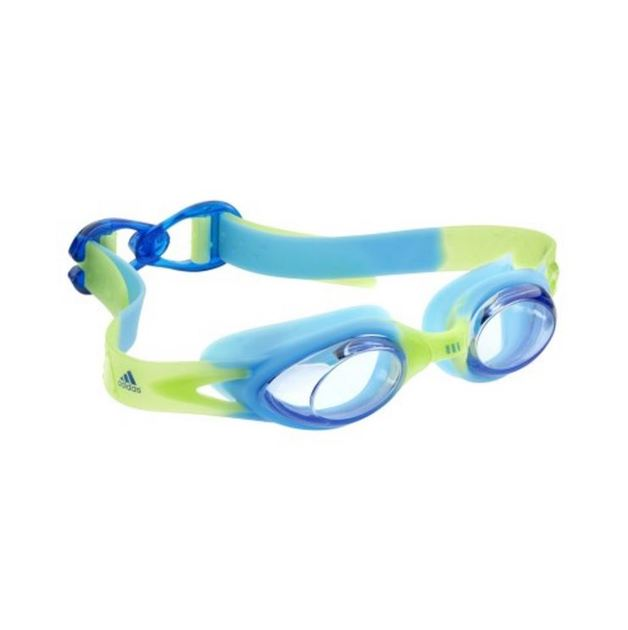 Adidas Aquasurf Kids Goggles - Clear Lens (Lime/Aqua)